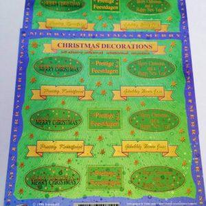 Tekst Stickers Goedkoop.Kerst Stickers Geluk Is Goedkoop