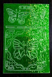 sticker vlinder groen