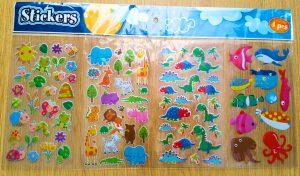 4 pc stickers glitter